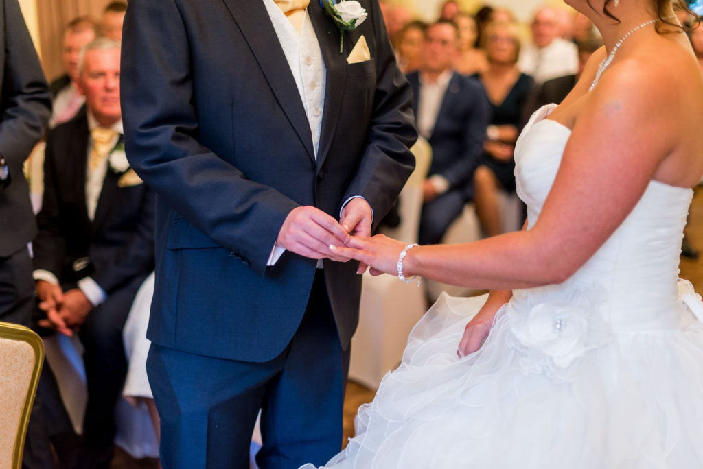 exchange of rings, ceremony The Grange Country House Hotel Wedding Photography