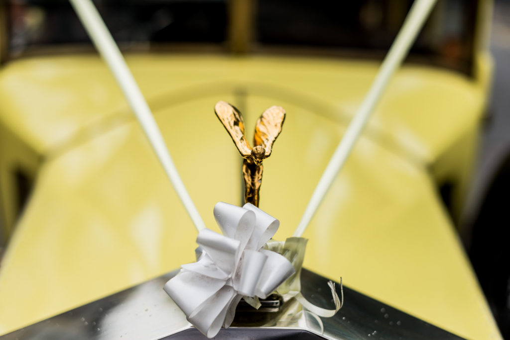 Classic Yellow Rolls Royce for wedding